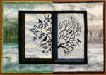 Two Seasons Through My Window Wall Quilt