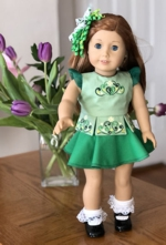 Irish Dance Costume for 18-inch Dolls