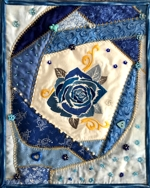 Azure Rose Crazy Quilt