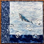 Finished Blue Whale Wall Quilt