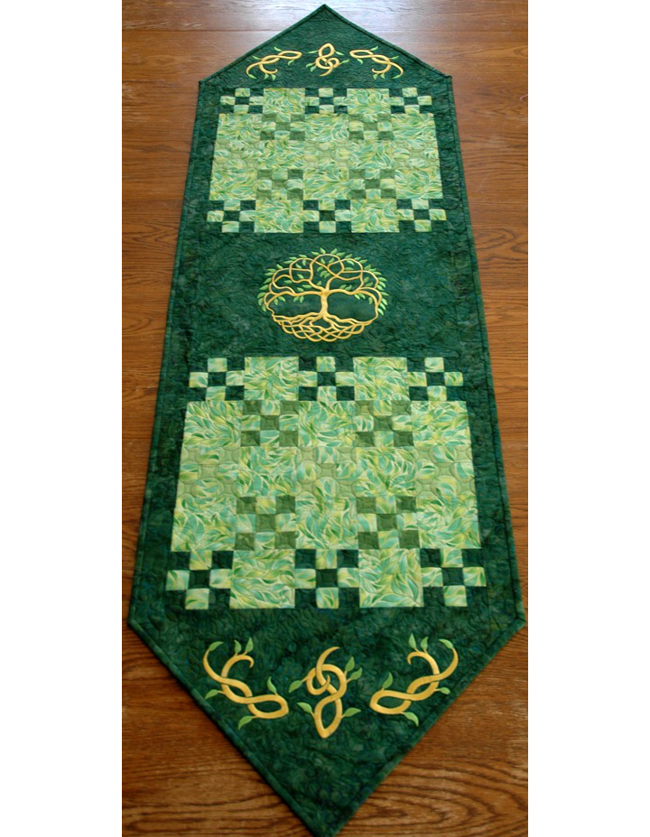 Celtic Tree of Life Quilted Table Runner image 1