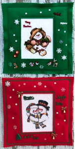 Christmas Embroidery in Felted Frames