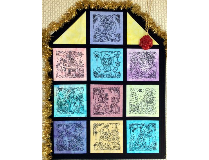 Christmas Window Wall Quilt image 1