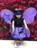 Halloween costume of a Twilight Fairy for a doll.