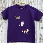 Kid's t-shirt with kitten embroidery