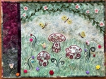 Fairy meadow wall art quilt.