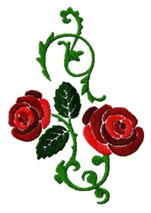 Rose Vine free machine embroidery designs
