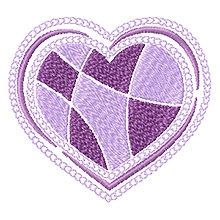 Free heart design for machine embroidery.