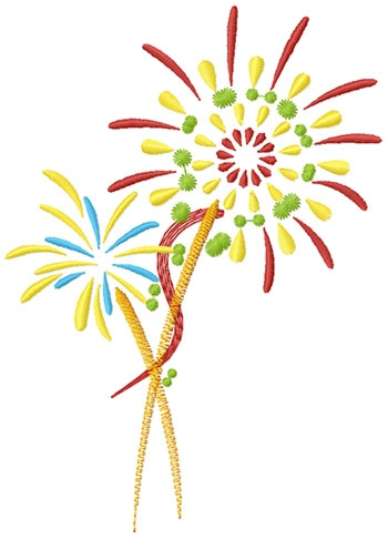 Fireworks free machine embroidery designs