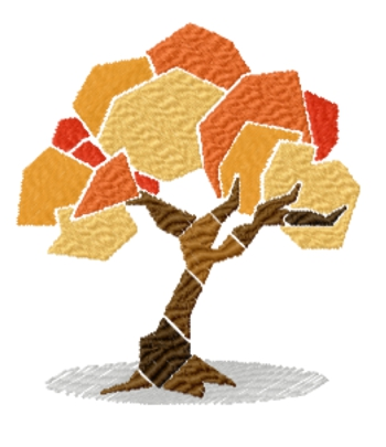 Fall Tree free machine embroidery designs