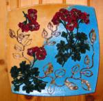 Place with decoupage embroidery
