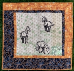 Wall Quilt with Horse Embroidery.