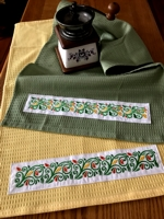 Kitchen Towels with Applied Embroidery
