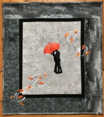 Love in Fall art quilt