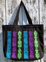 Quilted Bag with Celtic Motifs