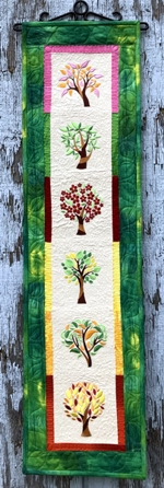 Trees in Season Quilted Bell Pull