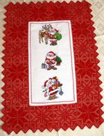 Christmas Star Doilies with Crochet Lace Hearts image 14
