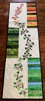 Scrap Spring-to-Fall Tablerunner