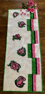 Art Nouveau Roses Summer Tablerunner