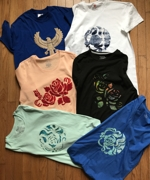 T-Shirts Embellished with Machine Applique