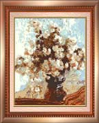 Vase with Flowers by Claude Monet