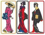 Geisha Bookmark Set