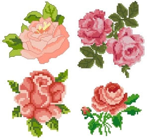 Small Roses Set