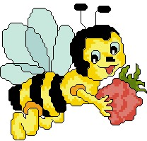 Bee with Strawberry