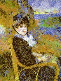 Pierre-Auguste Renoir. By the Seashore.