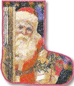 Christmas Stocking with Santa II