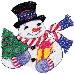 Stars and Stripes Snowman