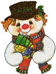 Snowman with Gifts II