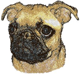 Advanced Embroidery Designs Pug Puppy