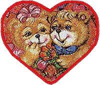 Valentine Bears machine embroidery designs