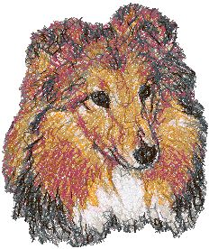 Advanced Embroidery Designs Shetland Sheepdog