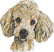 Poodle for Small Hoop
