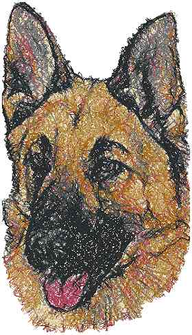 Advanced Embroidery Designs German Shepherd Dog Ii