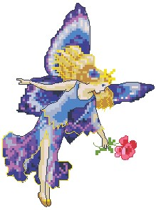 Blue Fairy with Rose