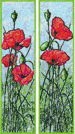 Red Poppy Bookmarks