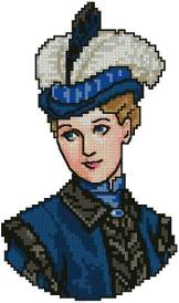 Victorian Lady in Blue