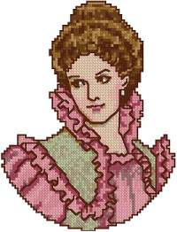 Victorian Lady in Pink