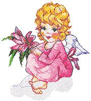 Birthday Angel with Flower