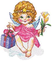 Birthday Angel with Gift