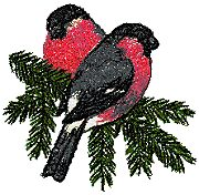 Bullfinches on a Tree