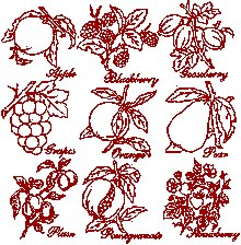 Redwork Fruit Set