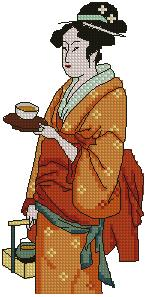 Geisha with Cup