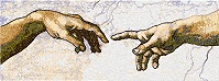 Michelangelo. The Creation of Adam. Detail.