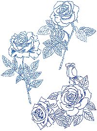 Rose Bluework Set