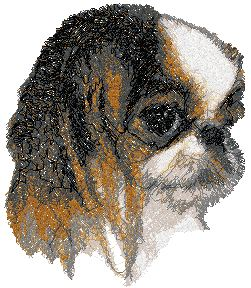 Japanese Chin Machine Embroidery Design