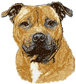 Advanced Embroidery Designs Staffordshire Bull Terrier